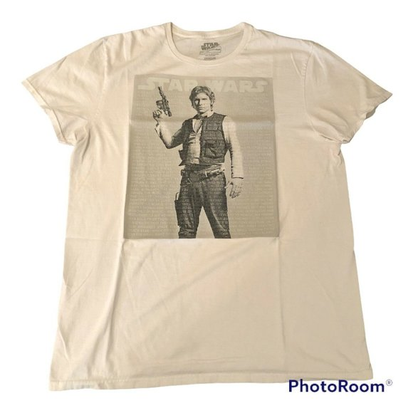 Star Wars white tshirt Fifthsun size large